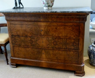 19th Century Burr Walnut Commode