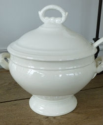 19th Century French Soup Tureen and Ladle