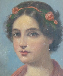 19th Century Protrait of a Girl