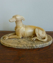19th Century Sculpture of a Dog