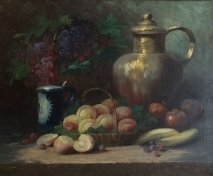 19th Century Still Life - Antique Oil Painting