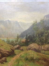 19th Century Swiss Landscape - Oil Painting