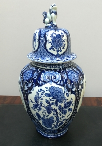 Antique Blue and White Delft Vase