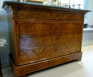 Antique Burr Walnut French Commode