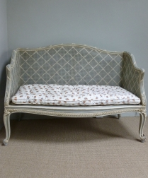 Antique French Cane Sofa - 19th Century