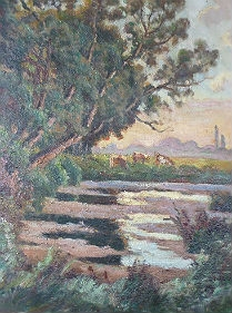 Antique French Landscape