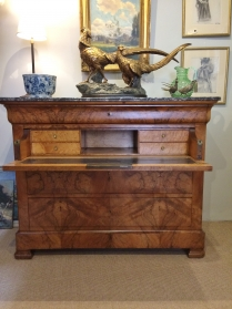 Antique French Walnut Commode/Secretaire