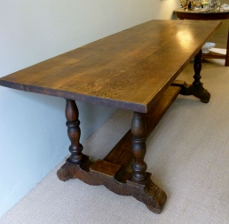Antique Oak Dining Table - 19th Century French