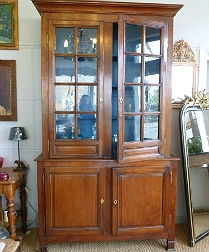 Antique Oak Glass Fronted Dresser