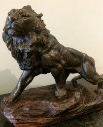 Antique statue of a Lion
