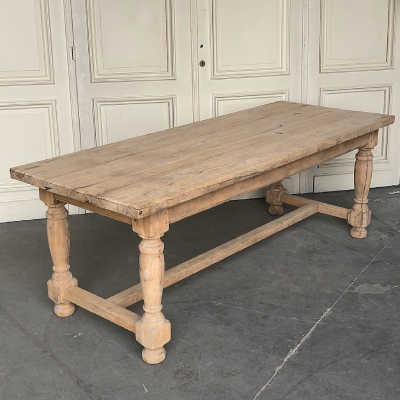 Bleached Oak French Farmhouse Table