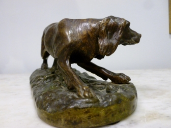 Bronze Sculpture of a Dog 19th Century