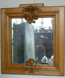 Carved Oak Mirror