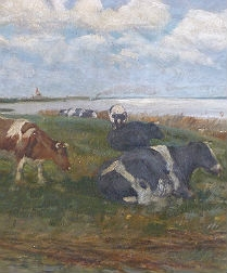 Cattle by an Estuary - 19th Century