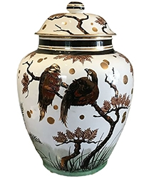 Ceramic Vase with Birds