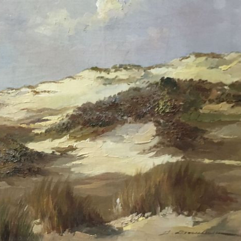 Coastal Dunes - Antique Oil Painting