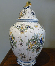 Decorative French Jar - Ceramic Rouen