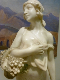 Elegant French Alabaster Statue