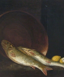 Fish and Lemons - Still Life - 19th Century
