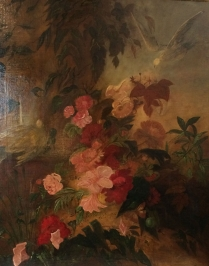 Flowers and Birds - Decorative Antique Oil Painting