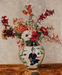 Flowers in a Vase - French School
