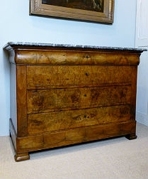 French 19th Century Burr Walnut Commode