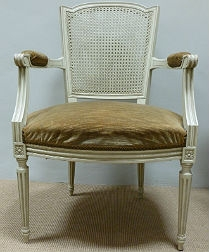 French Cane Back Fauteuil Chair