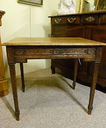 French Carved Oak Table