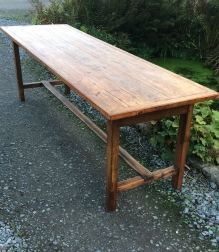 French Elm Kitchen Dining Table - 19th Century