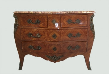 French Kingwood Bombe Commode Chest