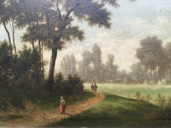 French Landscape - Antique Oil Painting