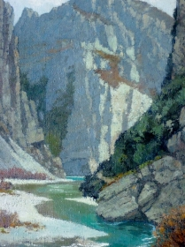 French Landscape - View of a Gorge
