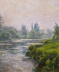 French Landscape - View of a River