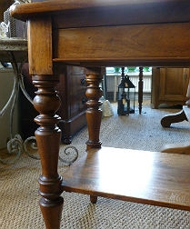 French Louis Philippe Walnut Serving Table