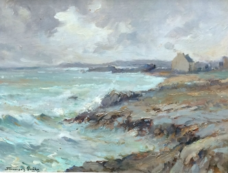 French Seascape - Oil Painting