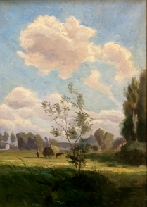 French Summer Landscape - 19th Century Oil Painting