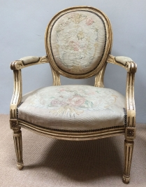 French tapestry Armchair/Fauteuil
