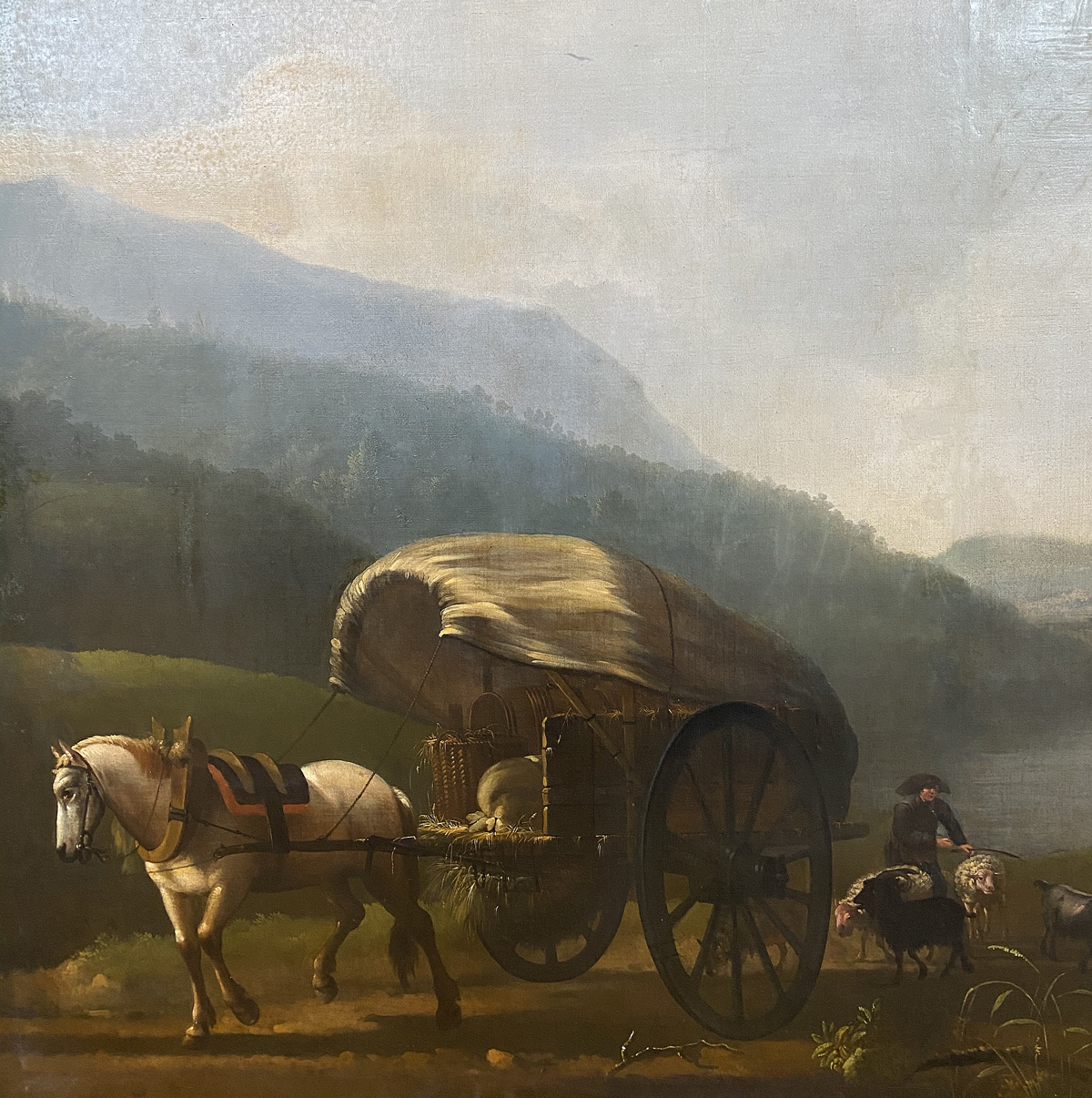 Horse and Cart in a River Landscape