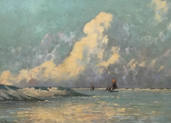 Impressionist Seascape - Antique Oil Painting