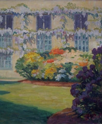 L'Orangerie at Trianon - Antique Oil Painting