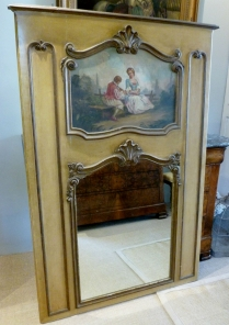Late 19th Century French Trumeau Mirror