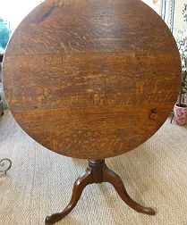 Oak Tilt Top Table circa 1850