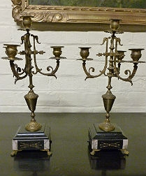 Pair 19th Century French Candelabres