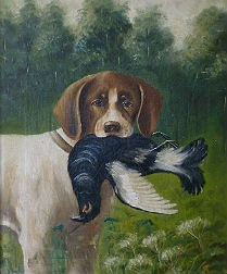 Pair of 19th Century Sporting Paintings - Two GunDogs