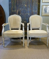 Pair of French Armchairs - Style Louis XVI