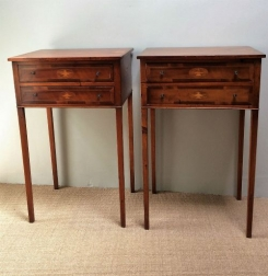 Pair of French Yew Bedside Tables