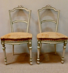 Pair of Painted French Chairs - 19th Century