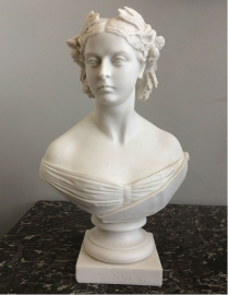 Parian Bust of Queen Victoria - 19th Century