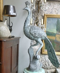 Peacock on Column