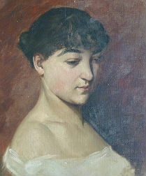 Portrait of a Young Woman - French School